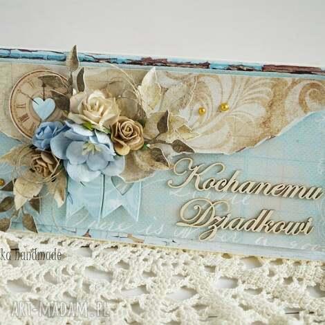 kartka dla dziadka z pudełkiem - dzień dziadka, dla dziadka, dziadek, dziadzio