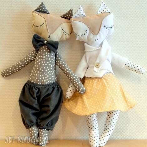mrs and mr lisek - mia lou - lalki, lalka, maskotka, przytulanka, przytulak, liski