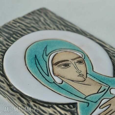 ślub ikona ceramiczna z wizerunkiem maryi - pneumatofora, ikona, obraz, maryja