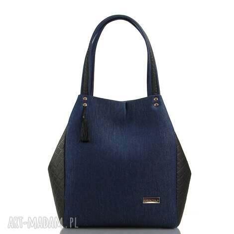 torebka jeansowa simple 134, jeans, modna, farbotka torebki