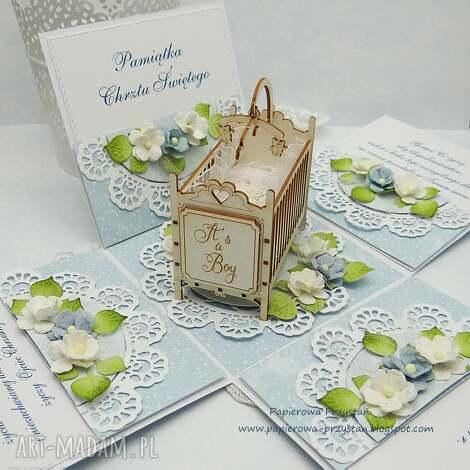 pamiątkowe pudełko na chrzest Święty - pudełko-chrzest