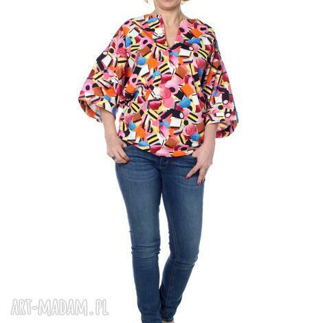 bluzki ciekawa bluzka kimono, niezwykle wygodna i uniwersalna, bawełna