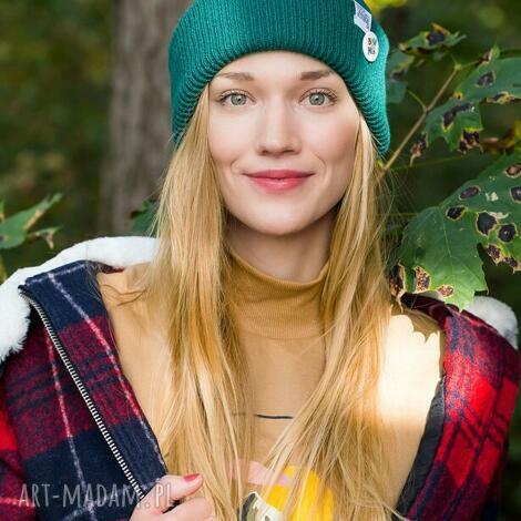 wywijana dwustronna logo kolorowe forest, czapka wywijana, czapka dwustronna,