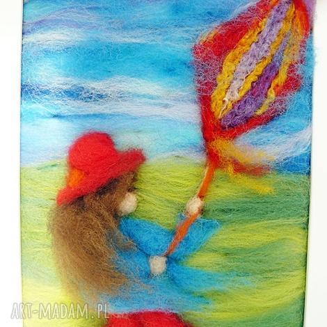 dziewczynka w czerwonym kapeluszu- obraz z kolekcji die wunderschne kindheit