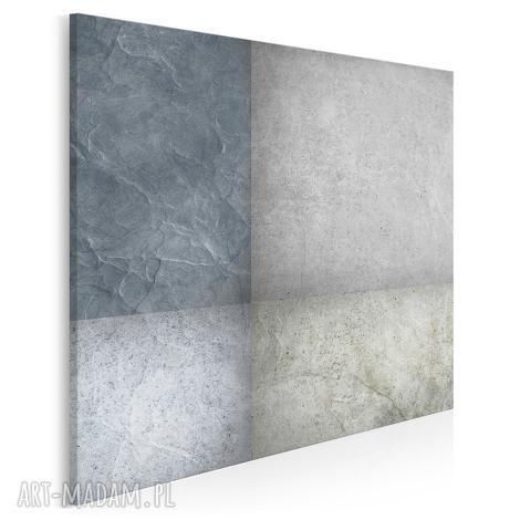 obraz na płótnie - abstrakcja beton- w kwadracie - 80x80 cm (35502)