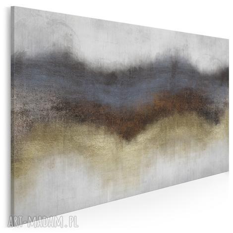 obraz na płótnie - abstrakcja złoty 120x80 cm 63801, abstrakcja