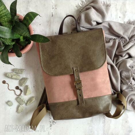 skórzany plecak, plecak na laptopa, damski do pracy, mini