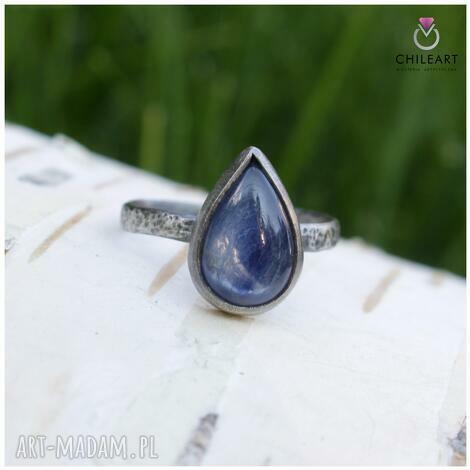kianit i srebro - pierścionek 1443a rozmiar 13,5, kyanit srebro