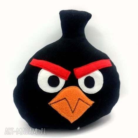 czarny angry - prezent, mikołaki, przytualnka, poduszka, angrybirds, święta