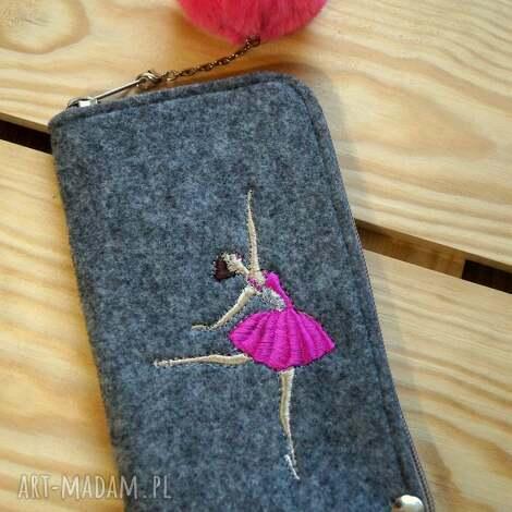 etui filcowe na telefon - baletnica, smartfon, pokrowiec, futerał, balerina