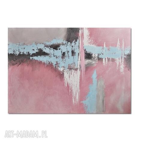 salmagundi iii, abstrakcja, obraz ręcznie malowany - obraz, ręcznie, malowany