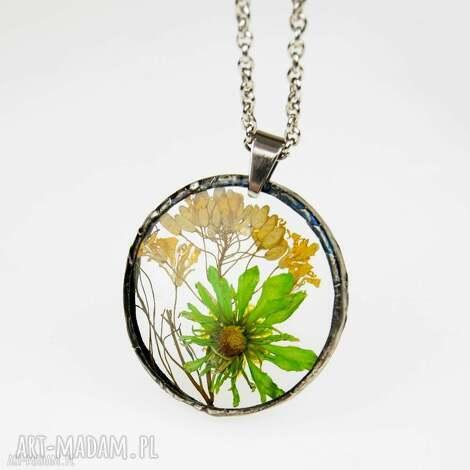 z1261 naszyjnik z żywicy z suszonymi kwiatami - naszyjnik-z-żywicy, real-flower