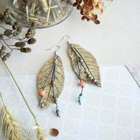 wiszące kolczyki w stylu gypsy, kolczyki, boho, biżuteria hippie