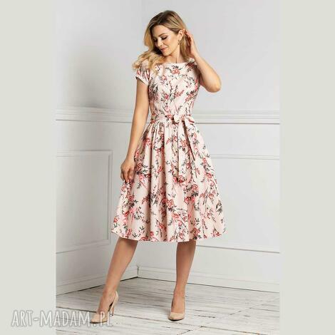 sukienka marie midi florence, midi, na wiosnę, wiosenna