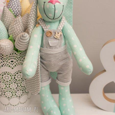 królik z imeiniem chrzest prezent - królik, przytulanka, personalizacja, chrzest