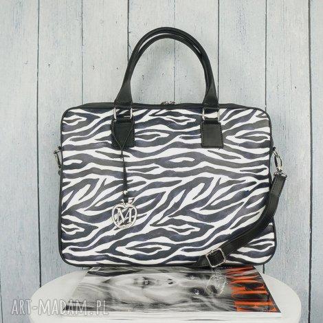 manzanatorebki torba na laptopa zebra manzana, aktówka, zebra, torebka, manzana
