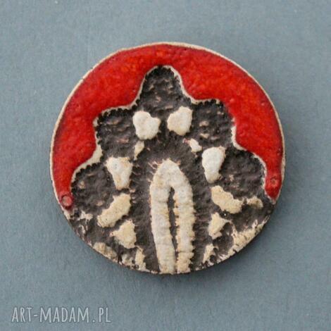 ornament-broszka ceramiczna mama imieniny, prezent, urodziny, przypinka, upominek
