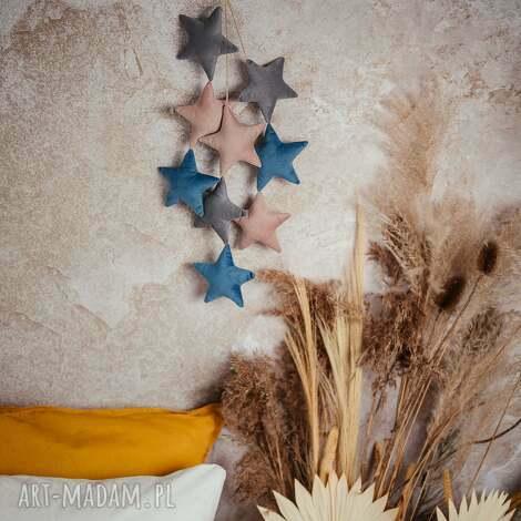 unikalne, girlanda gwiazdki - liliowa, girlanda, pokój dziecka, ozdoba pokoju