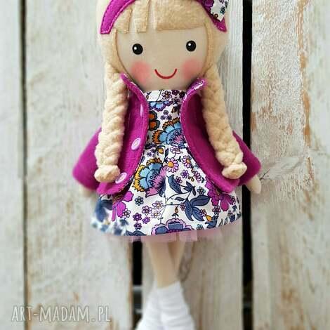 dollsgallery malowana lala julia, lalka, przytulanka, niespodzianka, zabawka