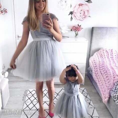sukienki sukienka chloe damska, tiul, brokat, mama i córka, koronka, gipiura