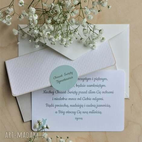 kartka kopertówka na chrzest Święty - chrzest, święty, pamiątka