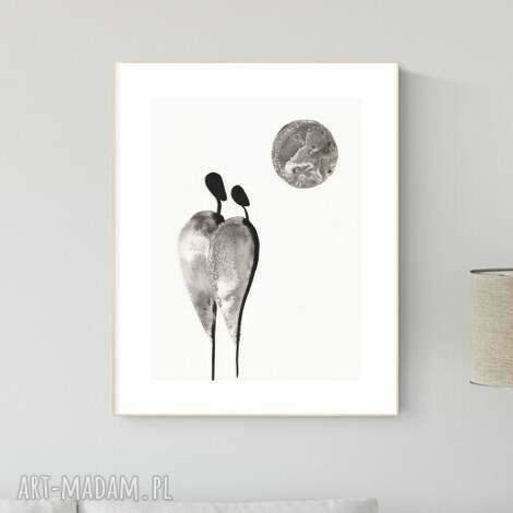 plakaty grafika 30x40 cm wykonana ręcznie, abstrakcja, obraz do salonu, 2705234