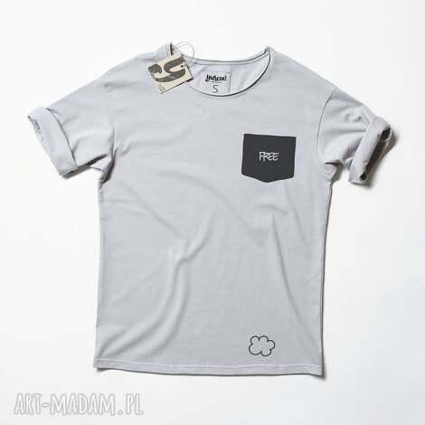 free pocket tshirt unisex, kieszona, napis, napisem, druk, oversize