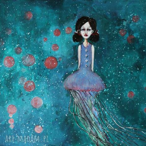 magiczny obraz do pokoju dziecięcego meduza z serii dolls, lala, obraz dla dziecka