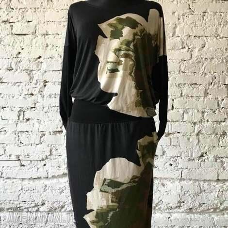 flower power-sukienka, sukienka codzienna, minimalistyczna, klasyczna sukienka, midi
