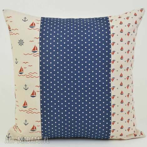 poduszka dekoracyjna marine i 45x45cm len, poduszki, poszewka, ozdobna, prezent, len