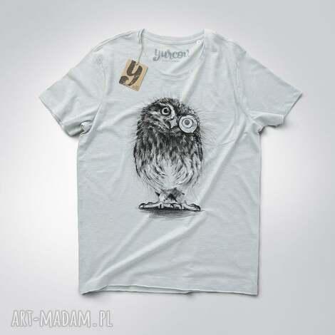 koszulki sowa pójdźka męska z kieszonką, sowa, smieszna, koszulka, tshirt, kieszonka