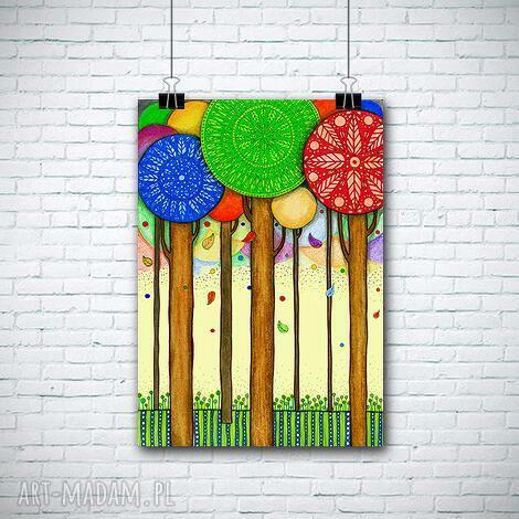 drzewa a1, drzewa, plakat dom