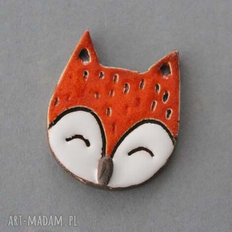 maluszek-broszka ceramiczna, minimalizm design, skandynawski, spryciara, prezent, urodziny