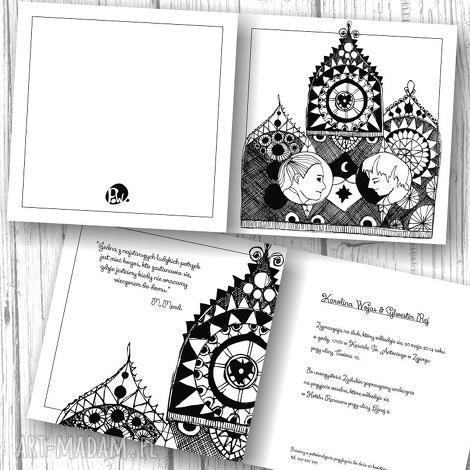 zaproszenia zapraszamy na nasz ślub, ilustracja, zaproszenia