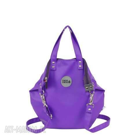 prezent na święta, ramię worek small all lila, torba, ekoskóra, zakupy, podróże