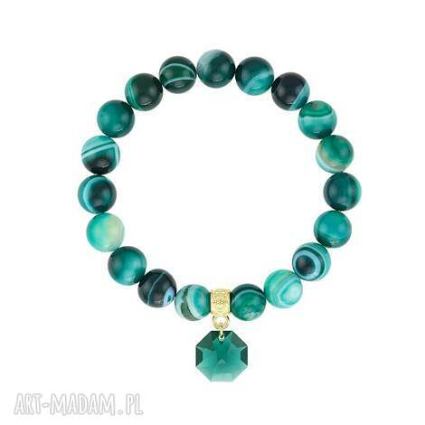 bransoletka z agatów - earth energy, agat, swarovski, minerały, prezent biżuteria