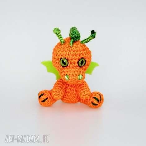 malutki smoczek pomarańczowy (smok zabawka, prezent, maskotka, breloczek)