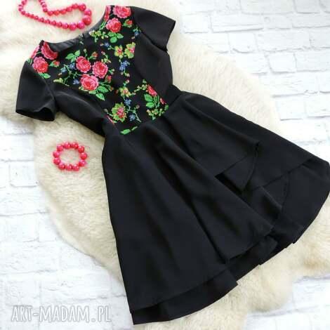 sukienki sukienka góralskie kwiaty folk, sukienka, kwiaty, cleo, góralska