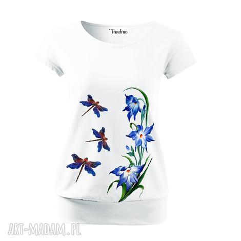 baweŁniana rĘcznie malowana bluzka - unikat, bluzka, koszulka, oryginalna, bawełna