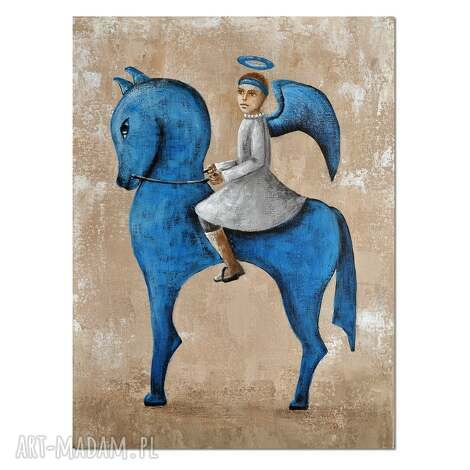 aleksandrab anioł augur, z cyklu jeźdźcy anty-apokalipsy oryginalny obraz