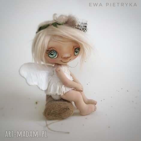 dekoracje szkrab - lalka kolekcjonerska figurka tekstylna ręcznie szyta