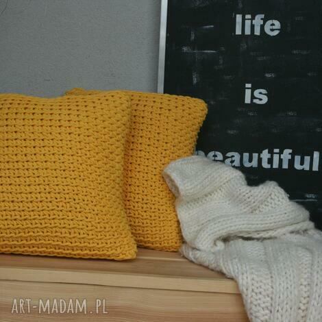 zestaw poduszek, poduszki, zółte, zestaw, słoneczny