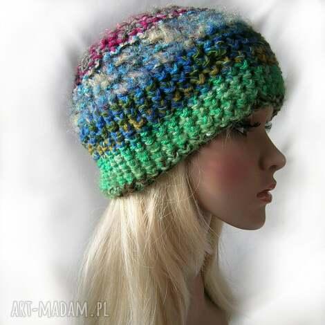 czapki czapka boho 111 - ciepła czapka, kolorowa, boho, ciepła