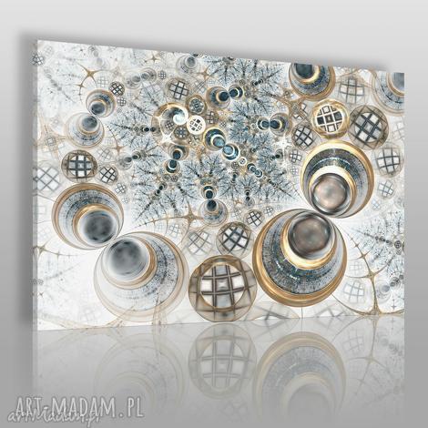 obraz na płótnie - koła fraktale 120x80 cm 62301, fraktale, koła, abstrakcja
