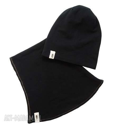 zestaw czapka komin black, i komin, zestaw, zimowa czapka, dla dziecka
