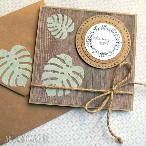 kartki serdeczne życzenia monstera iv kartka handmade, monstera, ślub