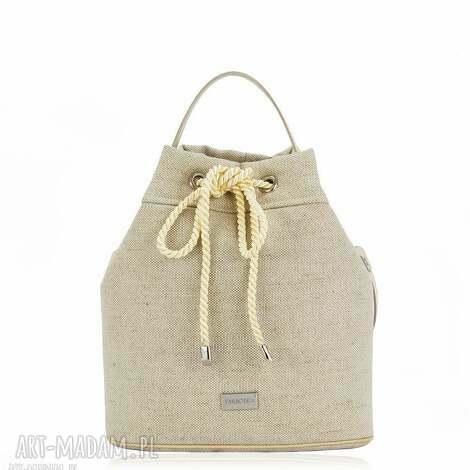 unikalne prezenty, torebka taszka simple 1048, torebka, lniana, len, worek