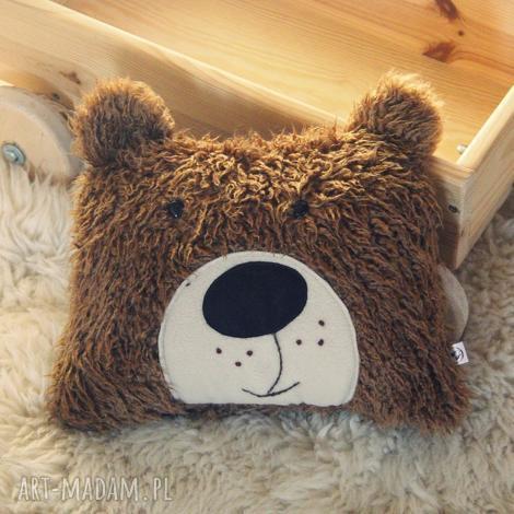 poduszka zwierzak - brązowy miś - poduszka do wózka