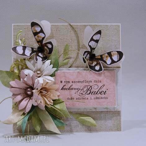 dla babci - kartka w pudełku - babcia, życzenia, podziękowanie