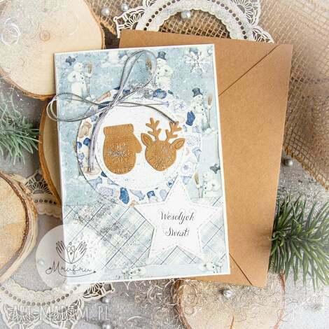 kartki piękna kartka na święta bożego narodzenia koperta